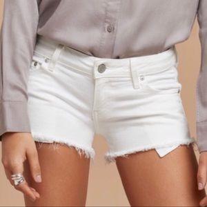 """Aritzia Talula """"The OC"""" White Denim Shorts"""